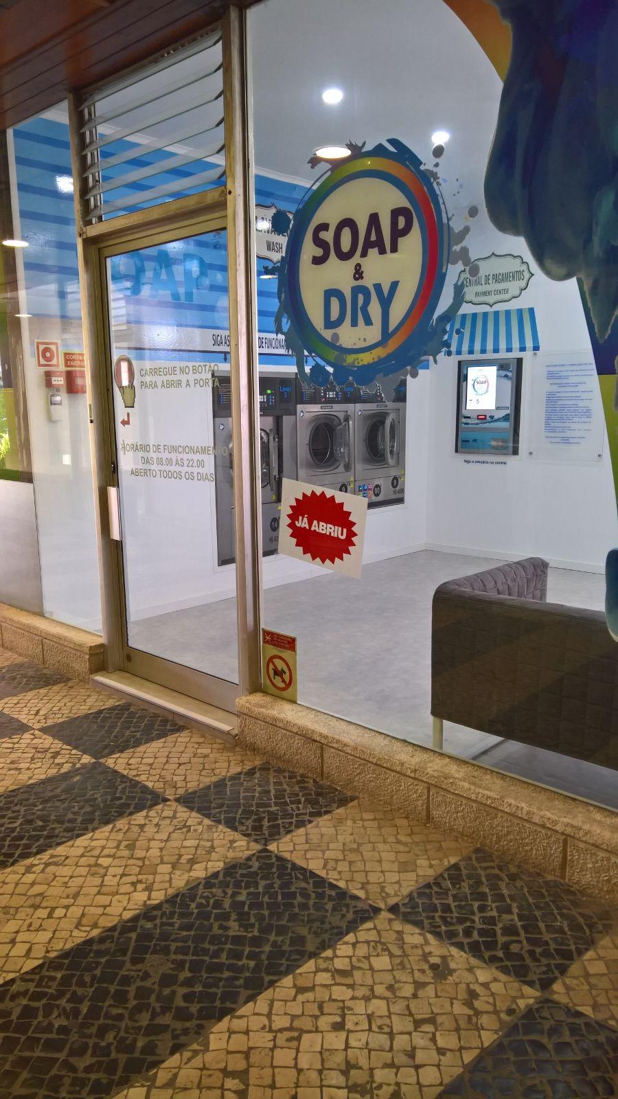 Fachada Lavandaria Self-Service SOap & Dry